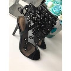 Černé lodičkové sandálky Mandy