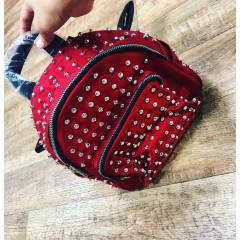 Designový batoh STUD červený