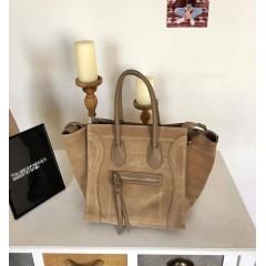 Béžová kabelka model Celine, broušená kůže