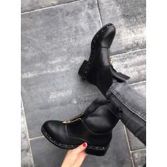 Kotníkové černé boty SERGIO
