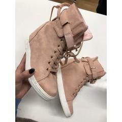 Boty na klínku Huston - růžová