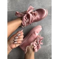 Saténové růžové tenisky Pearlove