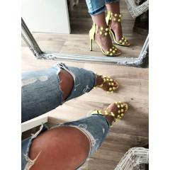 Neonově žluté lodičkové sandálky Balls