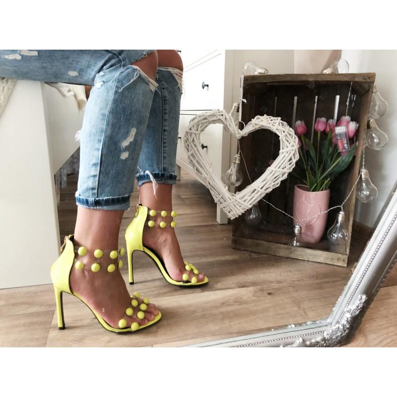 8c85bddbab44 Neonově žluté lodičkové sandálky Balls  Neonově žluté lodičkové sandálky  Balls ...