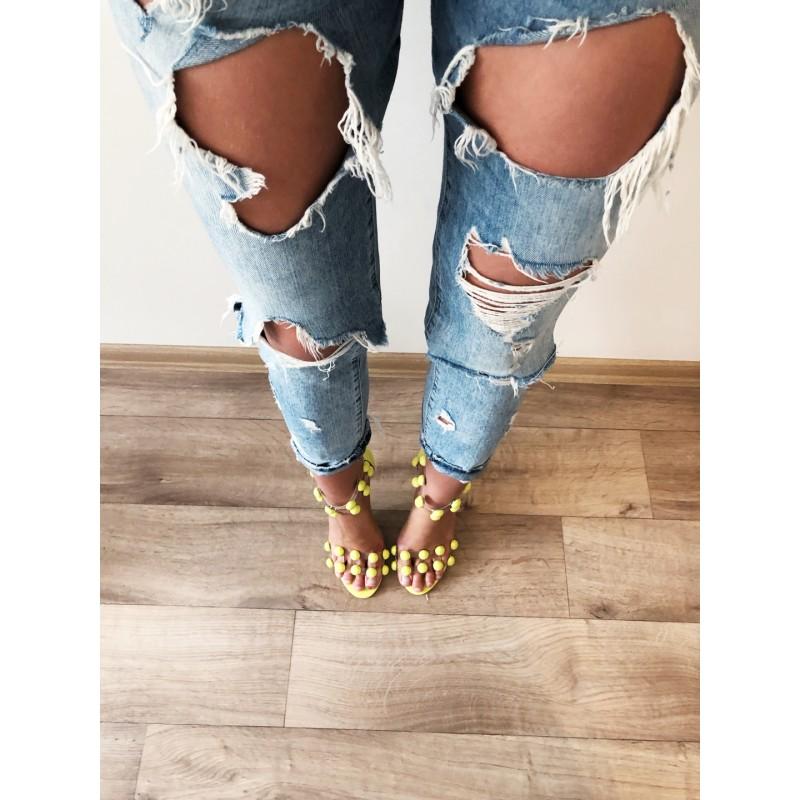 9c7f69be7fe4 Neonově žluté lodičkové sandálky Balls - I wanna shoes