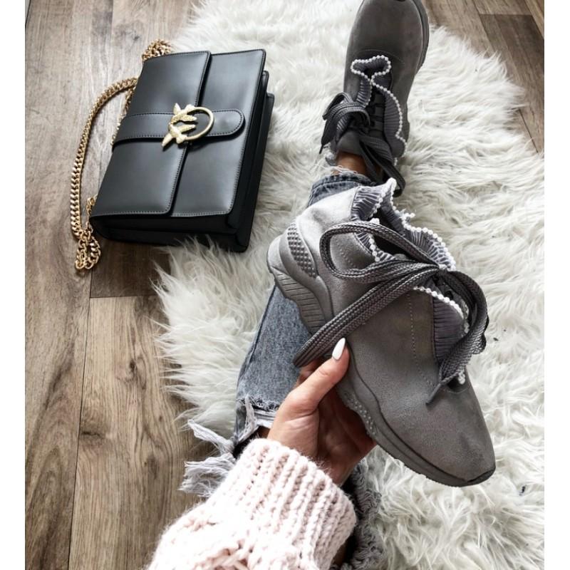 e9d0b84b4de3c Semišové tenisky Velvet Moon - šedé - I wanna shoes
