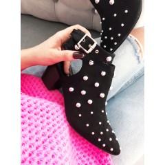 SOFIA boty černé s podpatkem