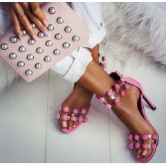 Růžové lodičkové sandálky Balls