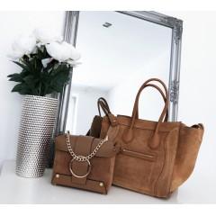 Camel kabelka model Celine, broušená kůže