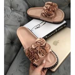 Květované pantofle Flowie růžové
