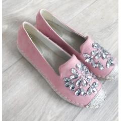 Espadrilky s kamínky  Gloria růžové