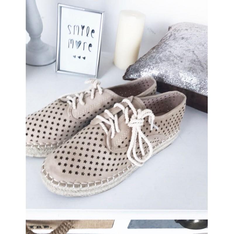 a0c0a7dea Espadrilky s hvězdičkami Star Ship béžové - I wanna shoes