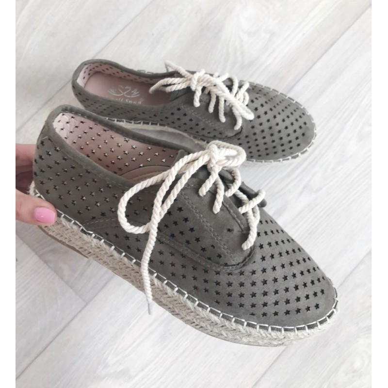 10a9f799c Espadrilky s hvězdičkami Star Ship khaki - I wanna shoes