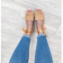 Sandálky se stuhou Lana camel