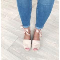 Sandálky se stuhou Lana béžové
