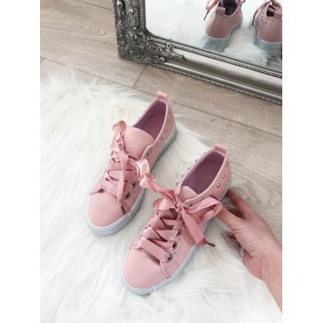 Cloe růžové tenisky s mašlí