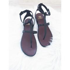 Černé sandálky Belt