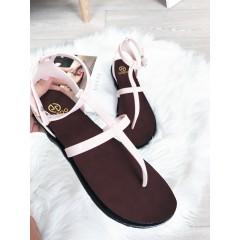 Béžové sandálky Belt