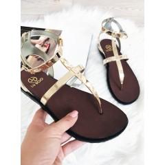 Zlaté sandálky Belt