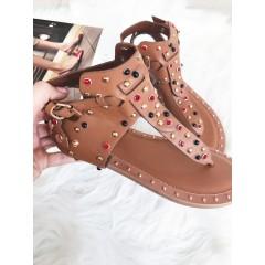 Hnědé sandálky Strip