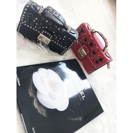 Černá kabelka mini studs