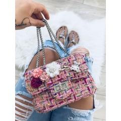 Mini kabelka Luisa růžová