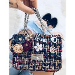 Mini kabelka Luisa černá barevná