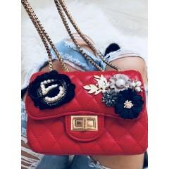 Mini kabelka Luisa červená hladká n5