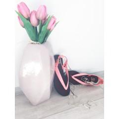 Gumové sandálky neon. růžové Amanda