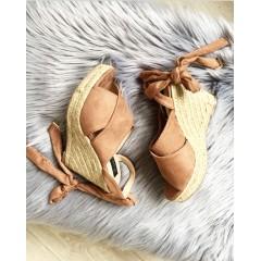 Starorůžové boty na klínku Sendy