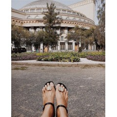 Gumové sandálky béžové Amanda