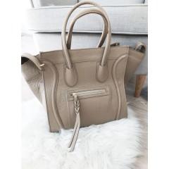 Béžová kožená kabelka Celine