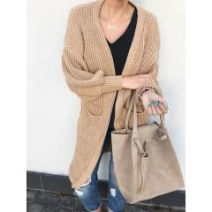 Béžová kabelka - nový model Celi. handmade broušená