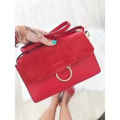 Červená kabelka Faye - MIDI