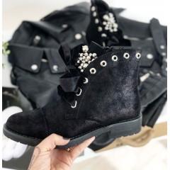 Černé kotníkové boty Dolce - broušené