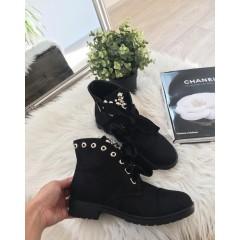 Černé kotníkové boty Dolce - semišové