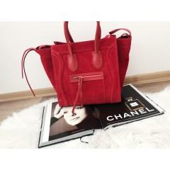 Červená kabelka model Celi.broušená kůže