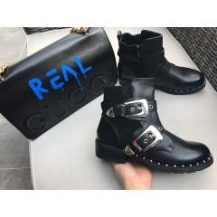 Černé kotníkové boty Elvis