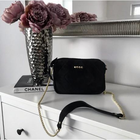 Kožená kabelka CLOE černá