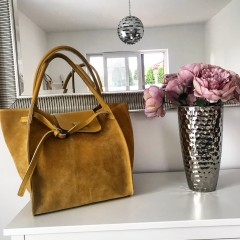 Okrová kabelka - nový model Celi. handmade broušená
