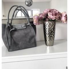 Světle šedá kabelka - nový model Celi. handmade broušená