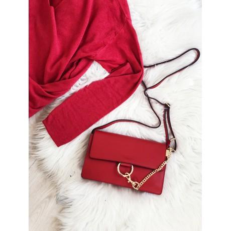 Červená kabelka Faye celokožená - MIDI