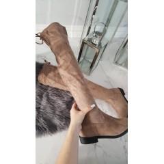 Béžové kozačky high knee TAUPE