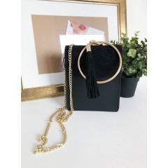 Broušená kabelka Cloe RING - černá