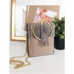 Broušená kabelka Cloe RING - šedá