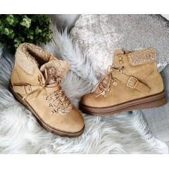 Camel boty s přezkou LORA RED