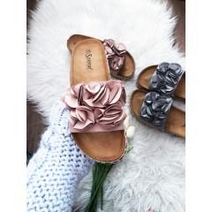 Pantofle Roses pudrové