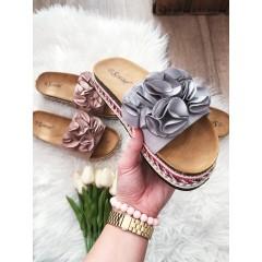 Pantofle Roses šedé