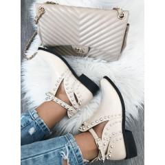 Béžové kotníkové boty Silver Darius