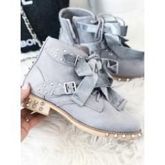 Kotníkové boty model Saint šedé